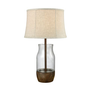 Camarillo Wood Stain Clear One-Light Outdoor Table Lamp