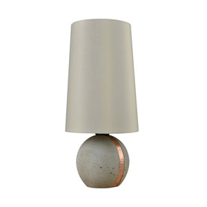 Jutland Polished Concrete Copper One-Light Outdoor Table Lamp