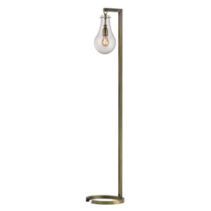 Antique Brass 60-Inch Metal Floor Lamp