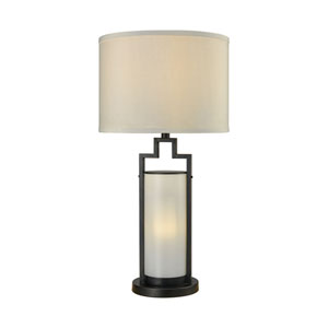 San Rafael Oil Rubbed Bronze Milk Glass 30-Inch One-Light Outdoor Table Lamp