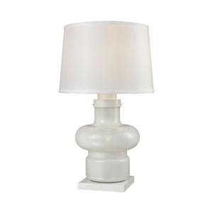 Sugar Loaf Cay  Milk Glass One-Light Outdoor Table Lamp