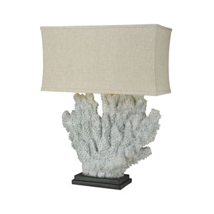 Shop coral color table lamps bellacor sandy neck distressed grey coral one light table lamp aloadofball Images