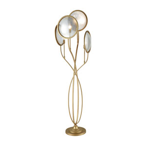 Le Style Métro Gold Antique Mercury Four-Light Floor Lamp