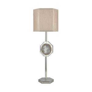 Askja Polished Nickel Natural Agate One-Light Single Aria Table Lamp