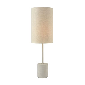 Katwijk Polished Concrete Nickel One-Light Table Lamp