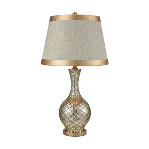 Honolulu Antique Silver Mercury Gold One-Light Table Lamp