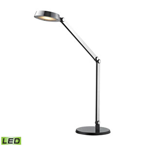 Modern Chrome and Black One-Light LED Desk Lamp