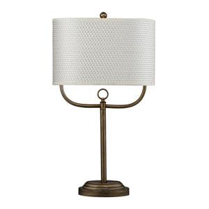 HGTV HOME Antique Brass Table Lamp