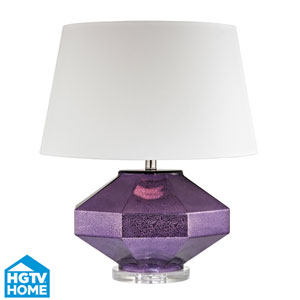 HGTV HOME Guild Mercury Amethyst One Light Table Lamp