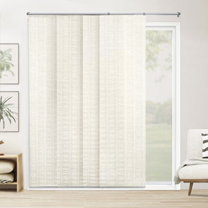 Seaside White 80-Inch x 96-Inch Adjustable Sliding Panel