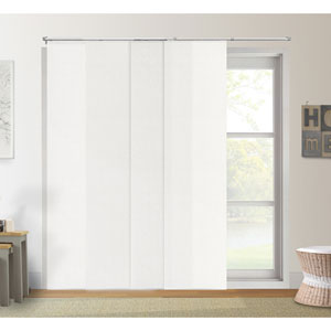 Adjustable 80-Inch x 96-Inch Urban White Light Filtering Sliding Panel