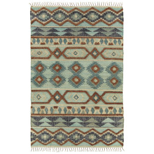 Alejandra Mint and Brown 2 Ft. 6 In. x 8 Ft. Runner Rug