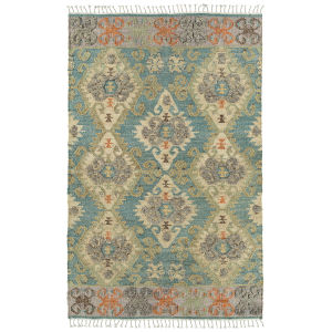 Alejandra Blue and Natural 4 Ft. x 6 Ft. Area Rug