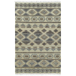 Alejandra Natural and Gray 2 Ft. 6 In. x 8 Ft. Runner Rug