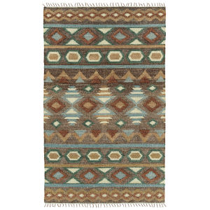Alejandra Brown and Blue 2 Ft. 6 In. x 8 Ft. Runner Rug