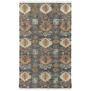 Alejandra Navy and Brown 4 Ft. x 6 Ft. Area Rug