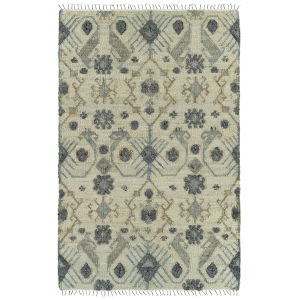 Alejandra Natural and Silver 2 Ft. 6 In. x 8 Ft. Runner Rug