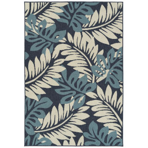 Amalie Blue Rectangular: 3 Ft.6 In. x 5 Ft.6 In. Rug