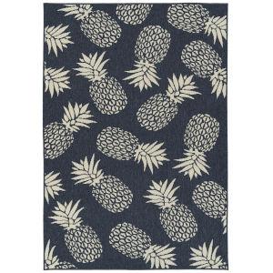 Amalie Navy Fruit Rectangular: 7 Ft.2 In.X 10 Ft.5 In. Rug