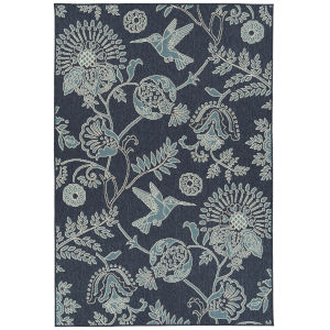 Amalie Navy Rectangular: 3 Ft.6 In. x 5 Ft.6 In. Rug