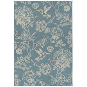 Amalie Light Blue Rectangular: 3 Ft.6 In. x 5 Ft.6 In. Rug