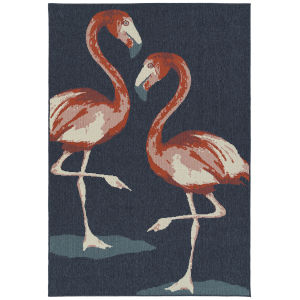 Amalie Navy Swann Rectangular: 3 Ft.6 In. x 5 Ft.6 In. Rug