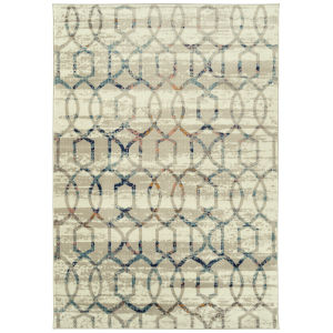 Ania Beige Pattern Rectangular: 3 Ft. x 5 Ft. Rug