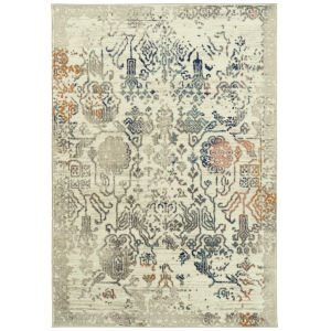 Ania Beige Multicolor Rectangular: 3 Ft. x 5 Ft. Rug