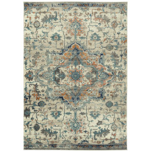 Ania Orange Rectangular: 5 Ft.3 In. x 7 Ft. Rug