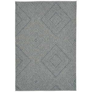 Bacalar Bluepattern Rectangular: 4 Ft. x 6 Ft. Rug