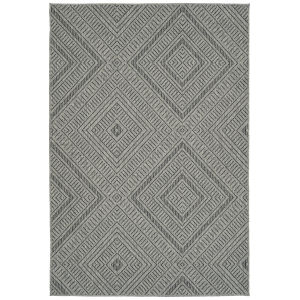 Bacalar Charcoal Rectangular: 4 Ft. x 6 Ft. Rug