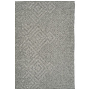 Bacalar Silver Pattern Rectangular: 4 Ft. x 6 Ft. Rug