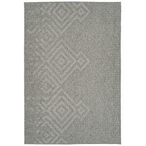 Bacalar Silver Pattern Rectangular: 7 Ft.10 In. x 10 Ft. Rug