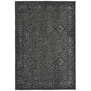 Bacalar Charcoal Gray Rectangular: 5 Ft.3 In. x 7 Ft.6 In. Rug