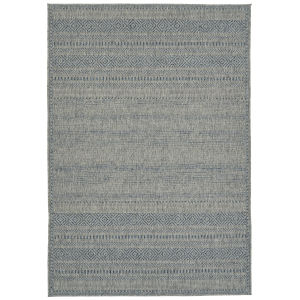 Bacalar Blue Wave Rectangular: 5 Ft.3 In. x 7 Ft.6 In. Rug