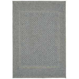 Bacalar Blue Rectangular: 5 Ft.3 In. x 7 Ft.6 In. Rug
