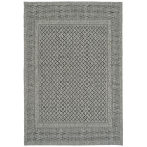 Bacalar Charcoal Pattern Runner: 2 Ft. x 6 Ft.
