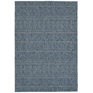 Bacalar Dark Blue Rectangular: 5 Ft.3 In. x 7 Ft.6 In. Rug