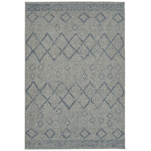 Bacalar Gray Rectangular: 4 Ft. x 6 Ft. Rug