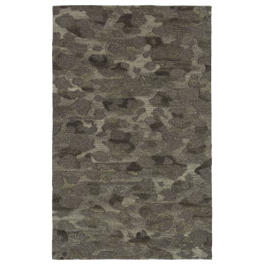 Calvin Black and Gray 2 Ft. 3 In. x 7 Ft. 6 In. Runner Rug