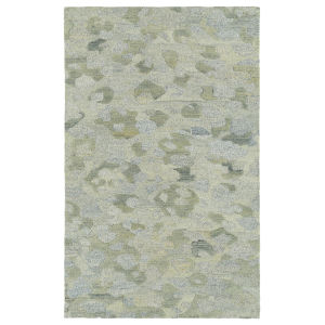 Calvin Light Blue and Yellow 8 Ft. x 10 Ft. Area Rug