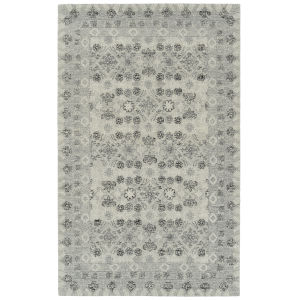 Courvert Gray and White 2 Ft. x 8 Ft. Runner Rug