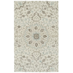 Courvert Ivory and Brown 8 Ft. x 10 Ft. Area Rug