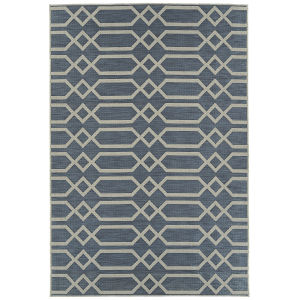 Cove Blue Pattern Rectangular: 5 Ft.3 In. x 7 Ft.6 In. Rug