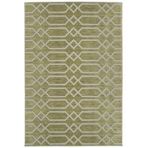 Cove Lime Green Pattern Runner: 2 Ft. x 6 Ft.