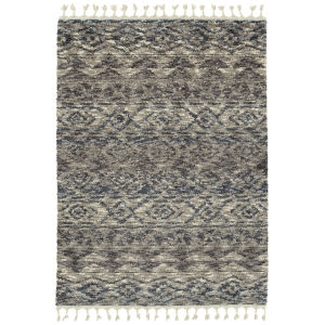 Duna Blue and Brown 5 Ft. 3 In. x 7 Ft. 3 In. Area Rug