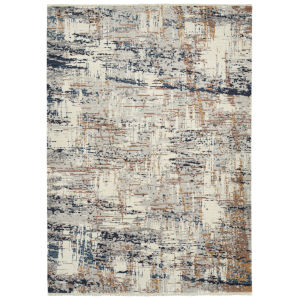 Eddison Blue and Rust 7 Ft.10 In. x 10 Ft. Area Rug