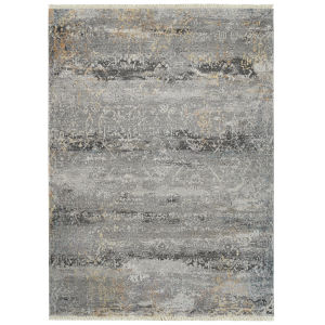 Eddison Gray and Black 7 Ft.10 In. x 10 Ft. Area Rug