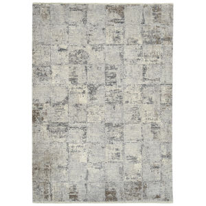 Eddison Gray and Ivory 7 Ft.10 In. x 10 Ft. Area Rug