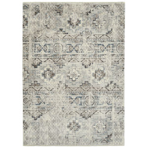 Eddison Ivory and Silver 7 Ft.10 In. x 10 Ft. Area Rug